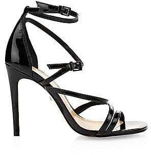 Schutz Women's Licah Strappy Patent Leather Stiletto Sandals