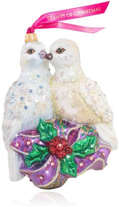 Jay Strongwater Two Turtle Doves Ornament