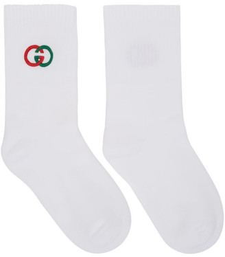 Gucci White Interlocking G Tennis Socks