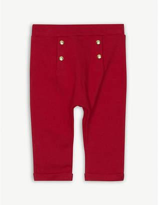 Petit Bateau Button detail cotton trousers 3-36 months