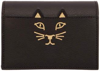 Charlotte Olympia Black Feline Card Wallet