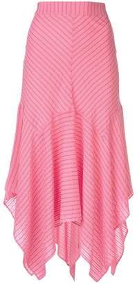 Ganni striped handkerchief skirt
