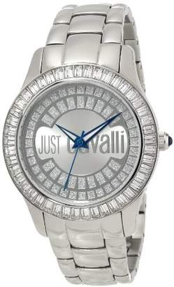 Just Cavalli Women's R7253169115 Ice Round Stainless Steel Swarovski Crystal Luminous Watch