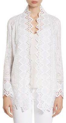 Polo Ralph Lauren Eyelet Embroidered Cotton Jacket $598 thestylecure.com