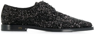 Dolce & Gabbana sequinned Derby shoes