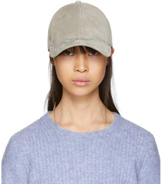 Rag & Bone Grey Suede Marilyn Baseball Cap