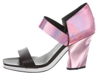 Missoni Metallic Ankle Strap Sandals