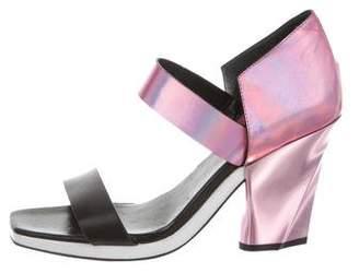 Missoni Metallic Ankle Strap Sandals