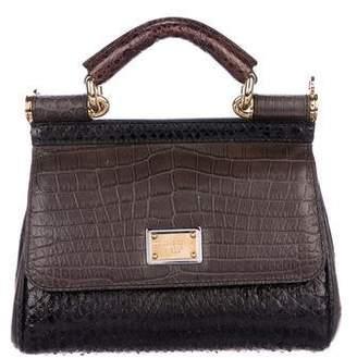 8f21b1af0df Dolce & Gabbana Snakeskin & Crocodile Mini Miss Sicily Bag