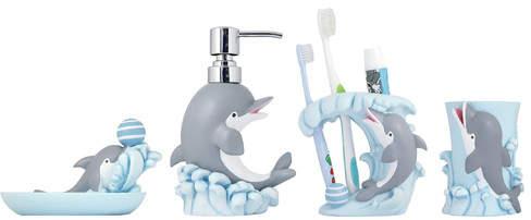 Modona 4 Piece Kids Bathroom Accessories Set