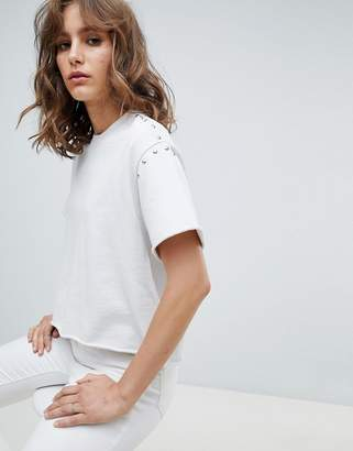 AllSaints jersey t-shirt with studs