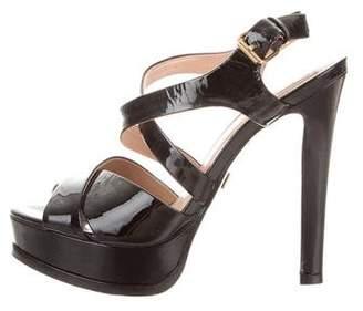 Pour La Victoire Platform Crossover Sandals