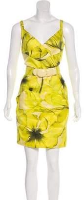 Versace Medusa-Accented Silk Dress