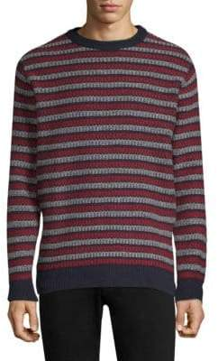 Sunspel Fair Isle Wool Crewneck Sweater