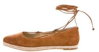 Michael Kors Suede Lace-Up Flats w/ Tags