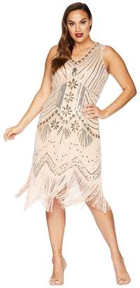 Unique Vintage Plus Size Veronique Fringe Flapper Dress Women's Dress