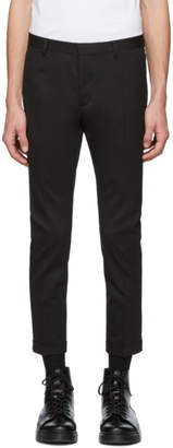 DSQUARED2 Black Chic Wool Skinny Dan Fit Trousers