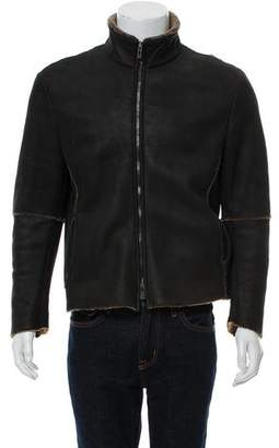 Giorgio Armani Raw-Edge Shearling Jacket