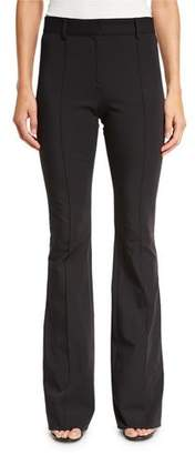 Veronica Beard Hibiscus High-Rise Flare Pants, Black