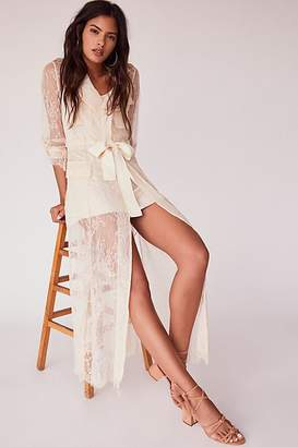 Divine Heritage Trench Maxi Dress