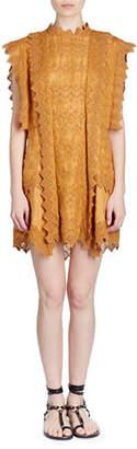 Isabel Marant Nubia Pinked Eyelet Apron Dress