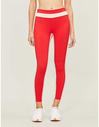 Freya VAARA Womens Red Poudre Side-Stripe Stretch-Jersey Leggings