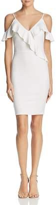 Aqua Ruffled Cold-Shoulder Body-Con Dress - 100% Exclusive