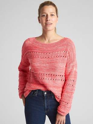 Gap Textured Wide-Neck Pullover Sweater