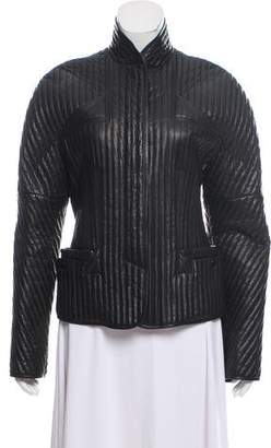 Jean Paul Gaultier Ribbed Leather Jacket495