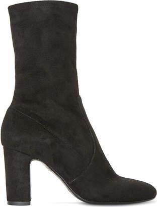 Dune Black Ladies Black OsBootsrne Stretchy Heeled Sock Boots