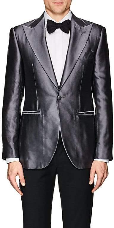 Cifonelli Men's Montecarlo Silk Satin One-Button Tuxedo Jacket
