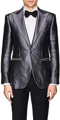 Cifonelli Men's Montecarlo Silk Satin One-Button Tuxedo Jacket