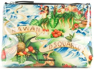 DSQUARED2 Hawaii print pouch