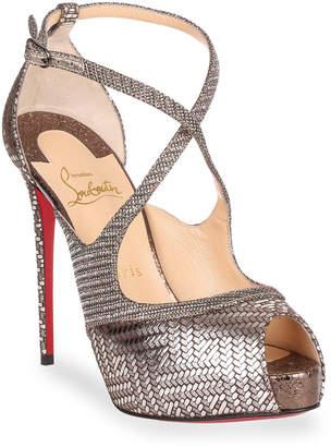 Christian Louboutin Mira Bella 120 metallic sandal