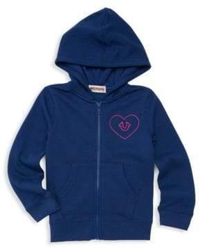 True Religion Little Girl's Heart Logo Zip Hoodie