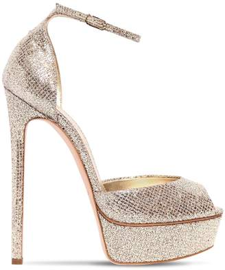 Casadei 140mm Glittered Sandals