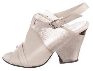 Zero Maria Cornejo Leather Ankle-Strap Sandals