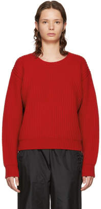 Acne Studios Red Wool Crewneck Sweater