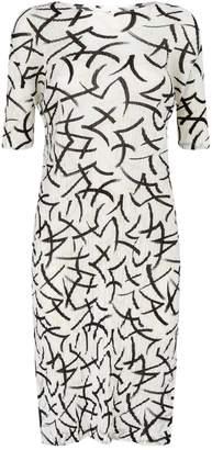 Pleats Please Geometric Print Dress