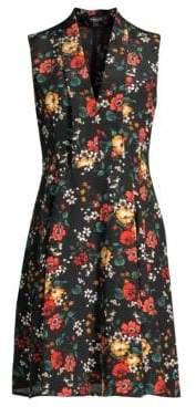 Derek Lam Core Floral Silk Shift Dress