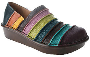 Spring Step Leather Slip-ons - Firefly