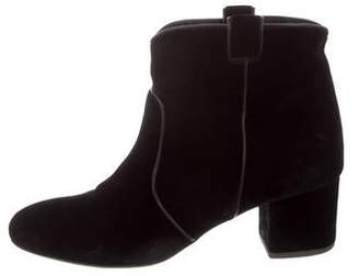 Laurence Dacade Velvet Round-Toe Ankle Boots