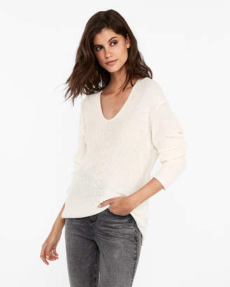 Express Slouchy Tunic Sweater