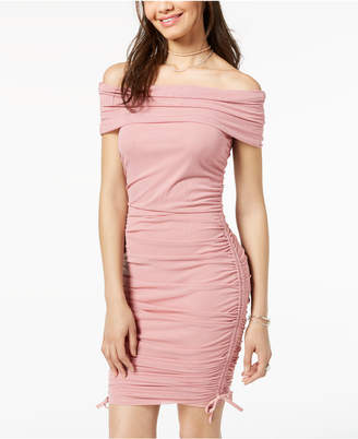 Material Girl Juniors' Off-The-Shoulder Bodycon Dress, Created for Macy's
