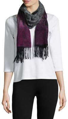 Lord & Taylor Ombre Paisley Cashmere Scarf