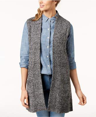 Karen Scott Petite Marled-Knit Sleeveless Vest