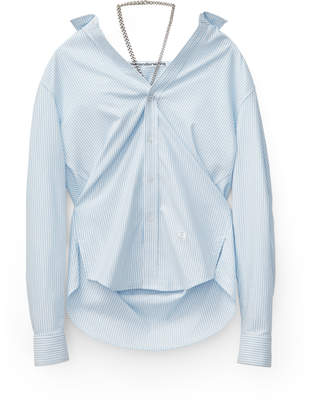 Alexander Wang Alexanderwang off-shoulder oxford shirt