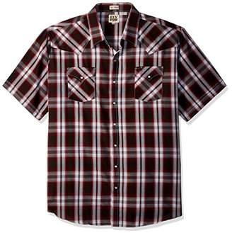 Ely & Walker Men's Size Short Sleeve Plaid Western Shirt