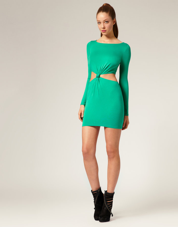 ASOS Twist Middle Body-Conscious Dress