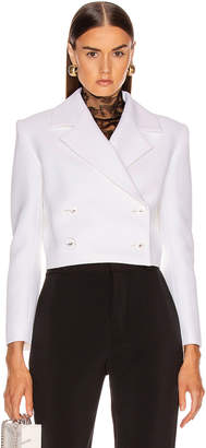 Carmen March CARMEN MARCH Double Lapel Jacket in White   FWRD